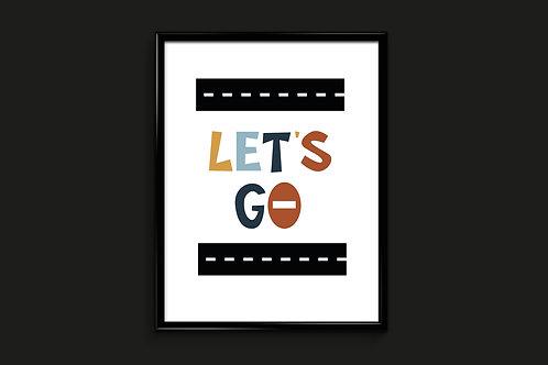 Ilustrirani poster LET'S GO