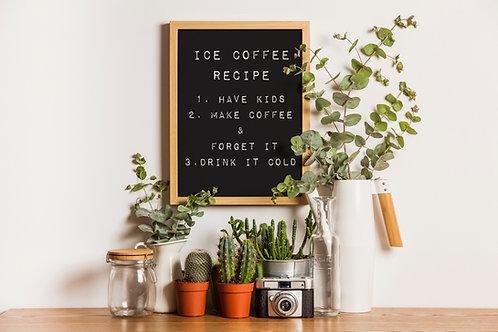 Poster za uređenje interijera ICE COFFEE