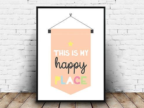 Ilustrirani poster HAPPY PLACE