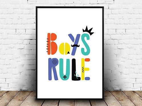 Ilustrirani poster BOYS RULE