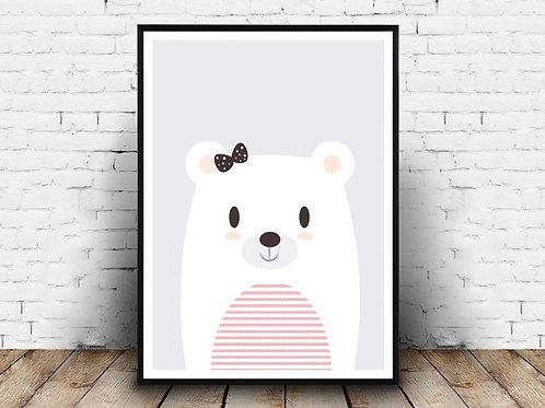 Ilustrirani poster BOW BEAR