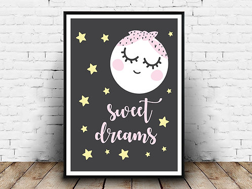 Ilustrirani poster SWEET DREAMS