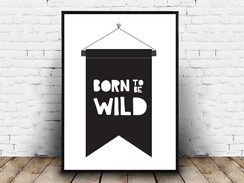 Ilustrirani poster BORN TO BE WILD