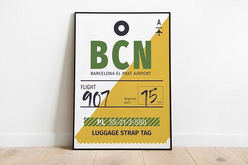 Poster za uređenje interijera BCN tag