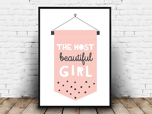 Ilustrirani poster BEAUTIFUL GIRL