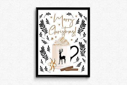 Prigodni poster Božić 2020 Hot chocolate