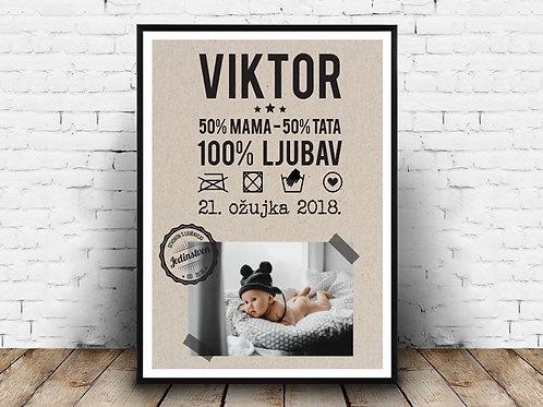 Poster s fotografijom 100%