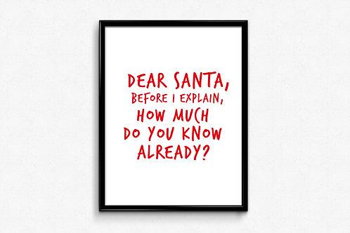 Prigodni poster Božić 2020 Dear Santa