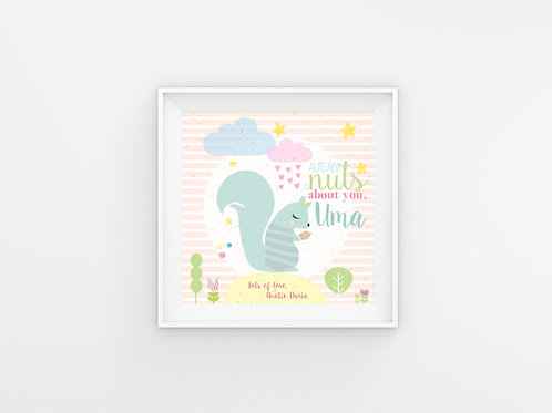 Nuts about you - personalizirani poster