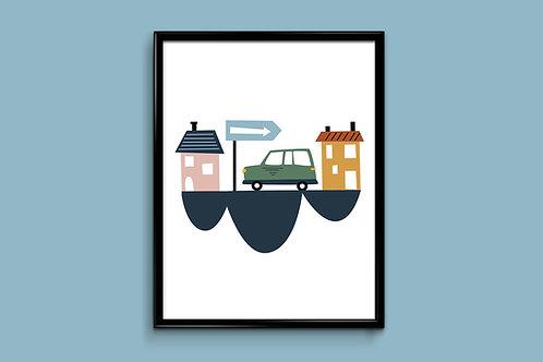 Ilustriraniposter HOUSES