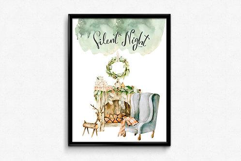 Prigodni poster Božić 2020 Silent night