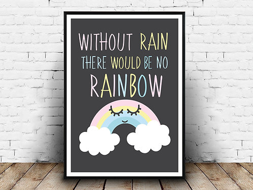 Ilustrirani poster RAINBOW CLOUD