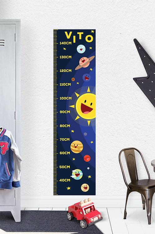Naljepnica za mjerenje visine Mini big me SPACE