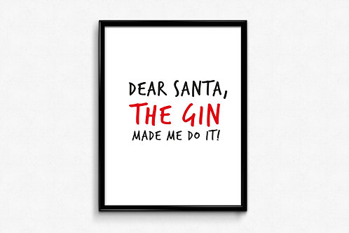 Prigodni poster Božić 2020 Gin1