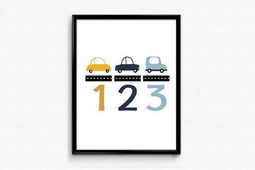 Ilustrirani poster 123