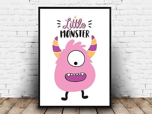 Ilustrirani poster LITTLE MONSTER