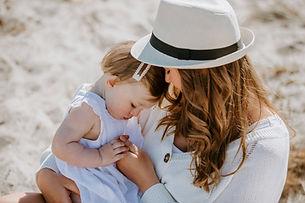 mor datter billeder på stranden