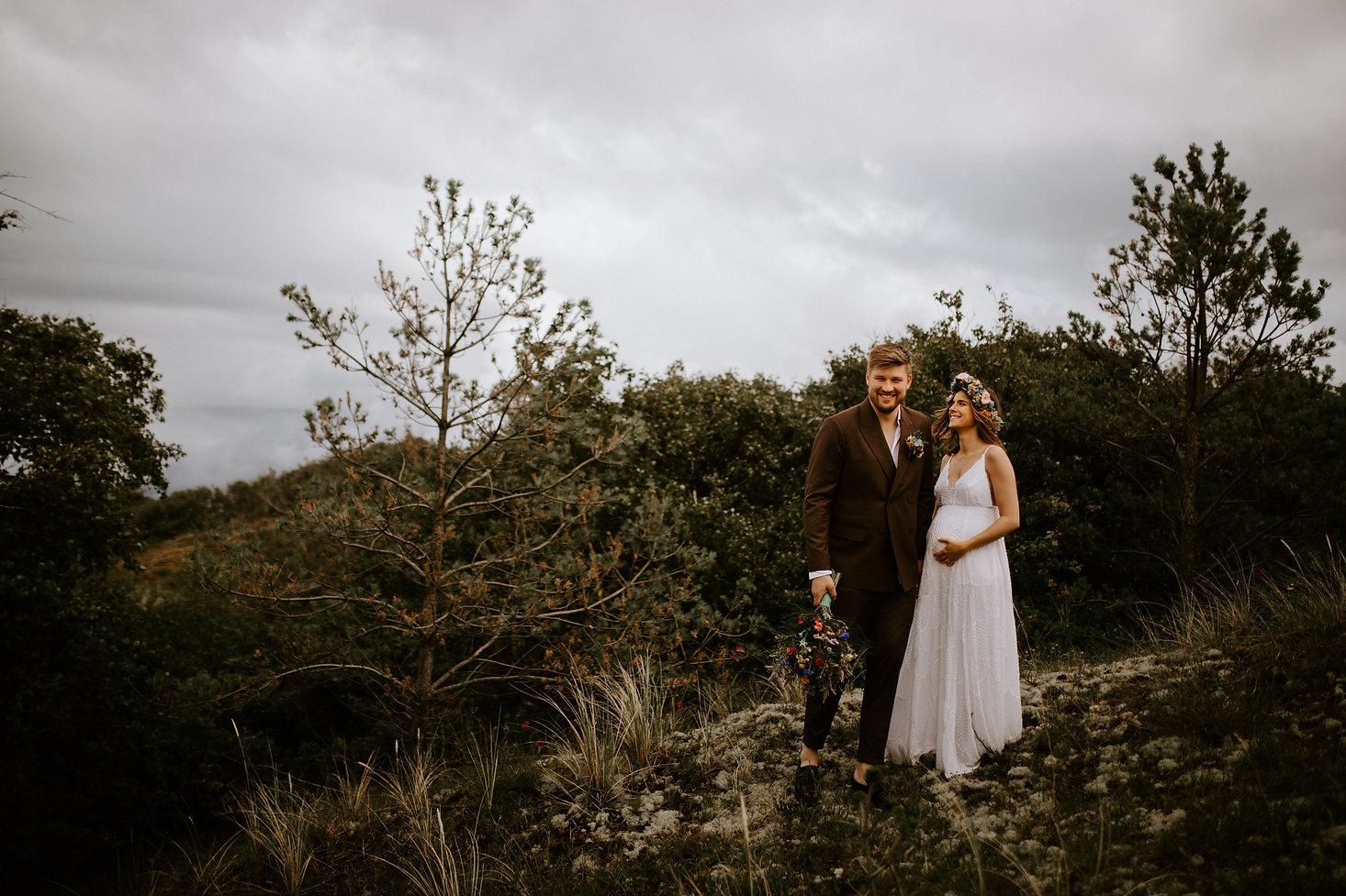 Bohemisk bryllup i naturen