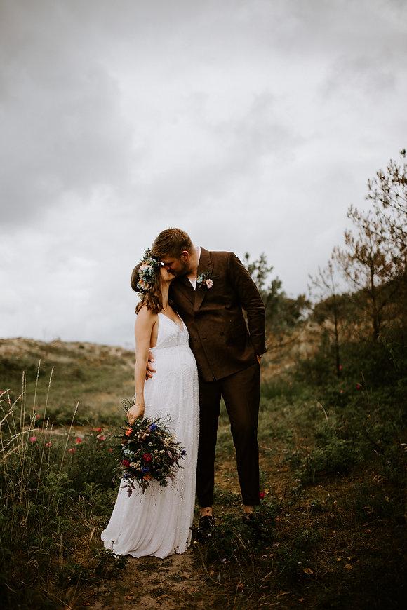 Bohemisk bryllup på stranden