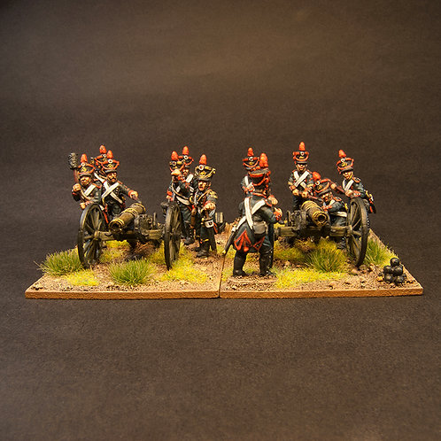 FNFR250: Early French Line Artillery - 8lb Btty & Crew (24 figures)