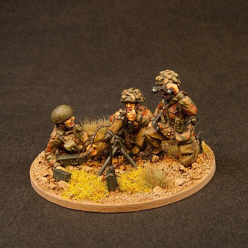 "EBPA804: British Paras - Fire Support 1- HMG & 3"" Mortar (6 figures)"