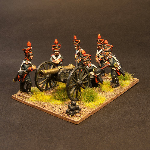 FNFR262: Early French Line Artillery - 12lb Gun & Crew (6 figures)