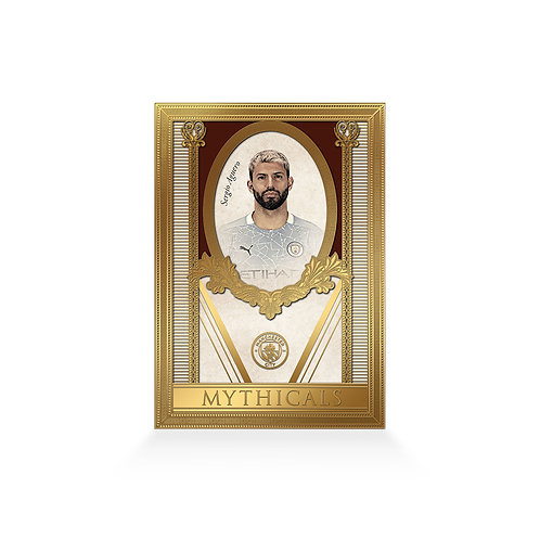 Sergio Aguero Mythicals 24ct Gold Plated