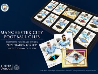 ENGLISH PREMIER LEAGUE CHAMPIONS - Limited Edition Futera UNIQUE Manchester City FC Presentation Box