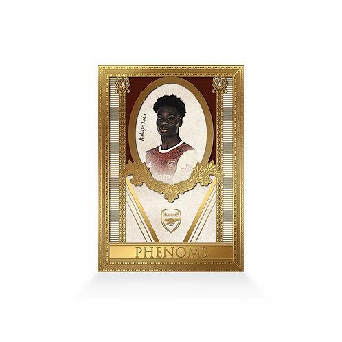 Bukayo Saka Phenoms 24ct Gold Plated