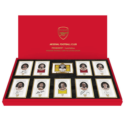 ARSENAL Edition II  24ct plated framed Autograph and Memorabilia Card Set