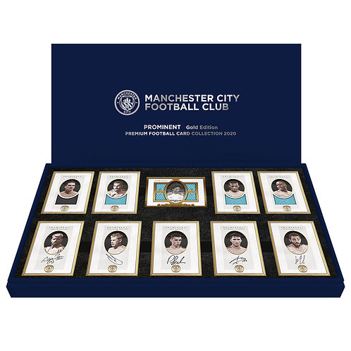 MANCHESTER CITY Edition II  24ct plated framed Autograph and Memorabilia Sets