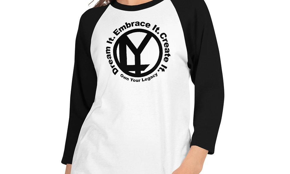 OYL 3/4 sleeve raglan shirt