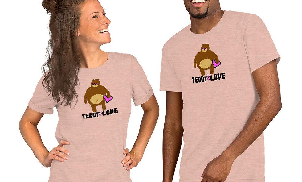 Teddy Love Pixel Ball Short-Sleeve Unisex T-Shirt