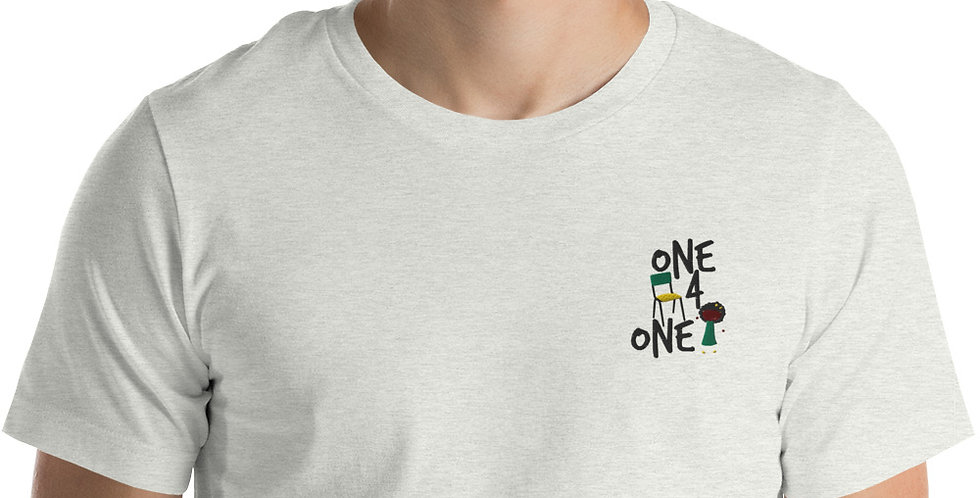One Chair One Child Embroidered Unisex T-Shirt