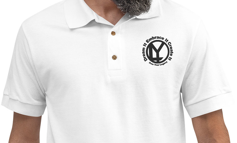 OYL Small Logo Embroidered Polo Shirt (Black logo)