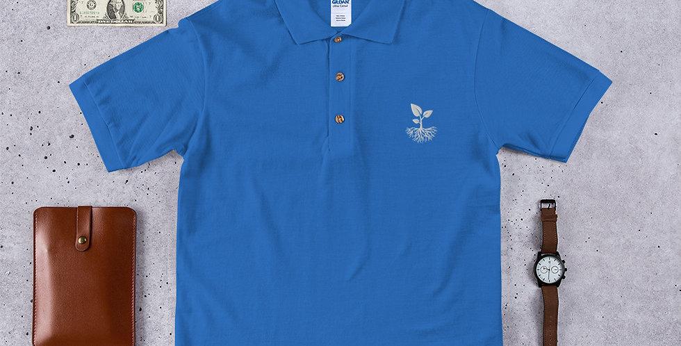 """OYL """"Legacy-Leaf"""" Embroidered Polo Shirt"""