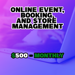 Online Event, Booking, and Store Management