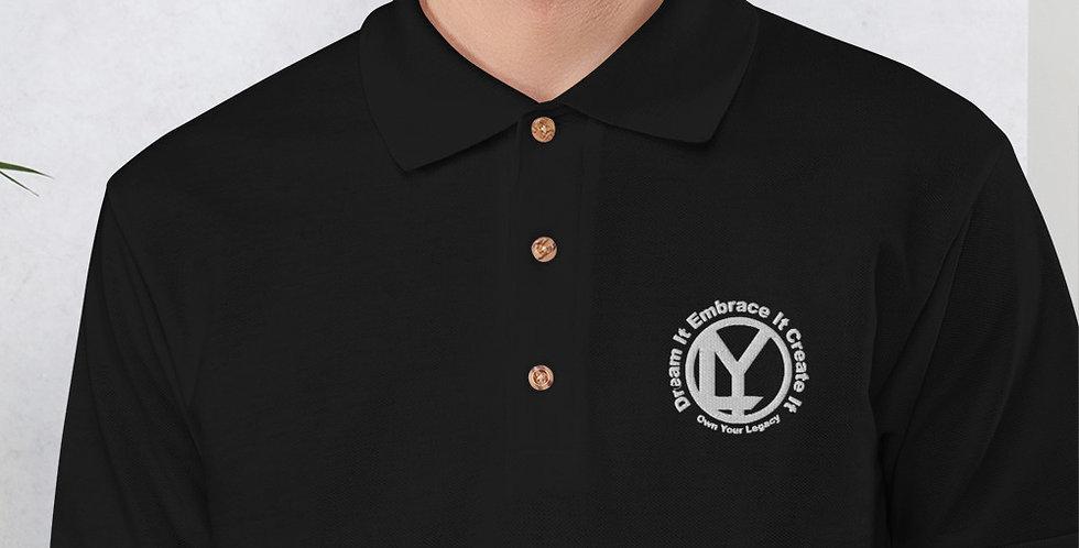 OYL Small Logo Embroidered Polo Shirt (white logo)