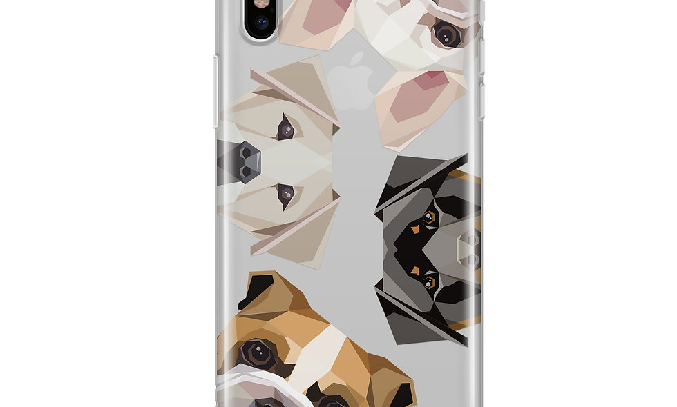 Dogs With Attitudes - Clear Case Cover