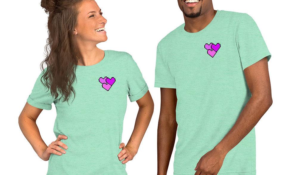 Pixel HeartsShort-Sleeve Unisex T-Shirt