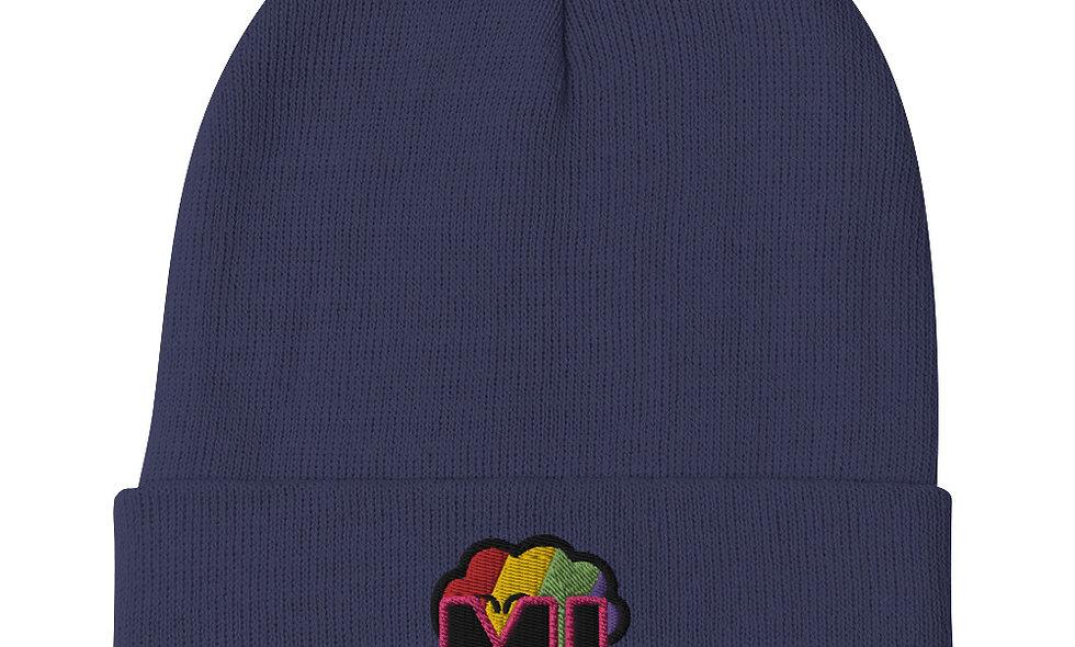 ML Rainbow Embroidered Beanie