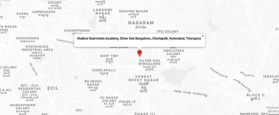 Madhav Badminton Academy - Google Map Up