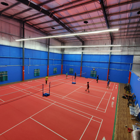 Singles players getting ready. You can also meet like minded player at our academy