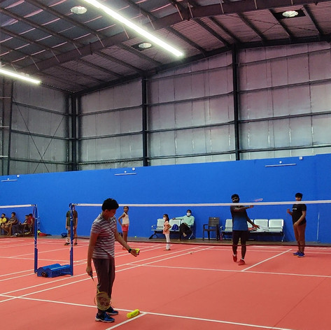 Tall ceilings to reach heights and hone Badminton skills