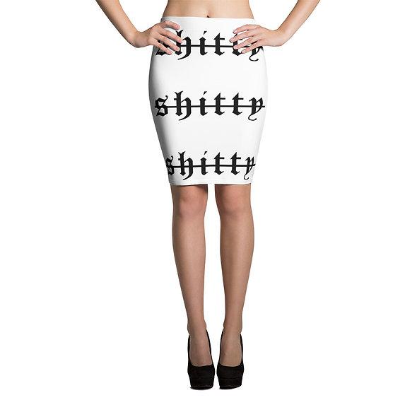 Shitty Street Pencil Skirt (White)