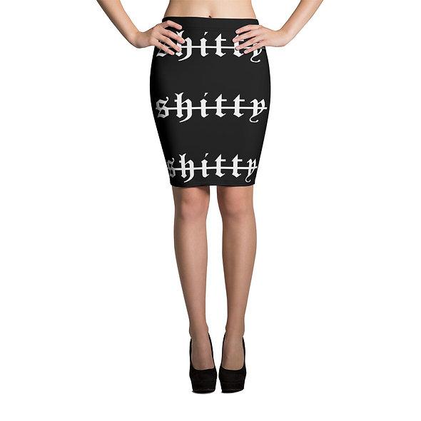 Shitty Street Pencil Skirt (Black)