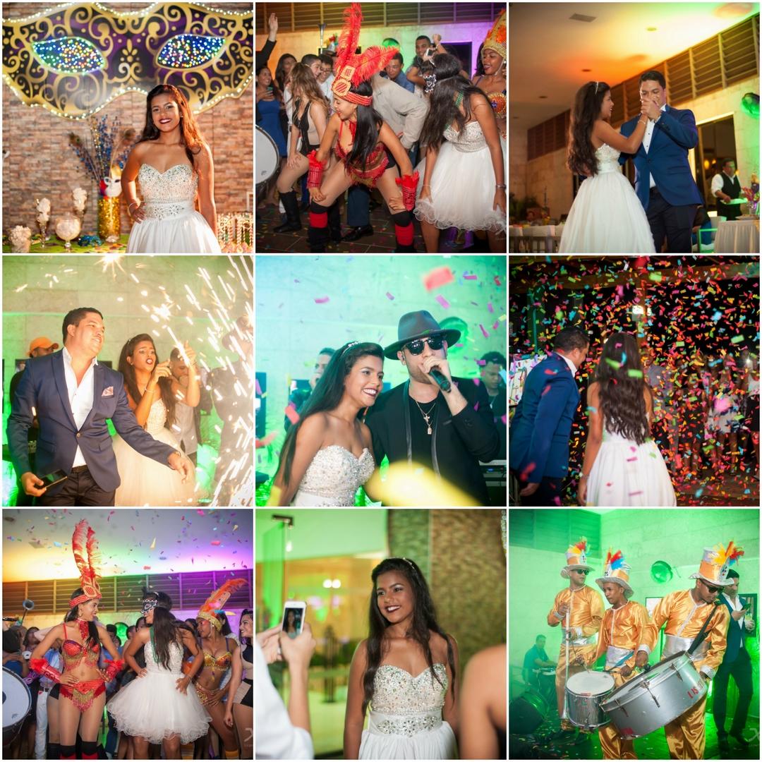 Quince Maria Jose - Mark B - Samba - Percusion - Hora Loca - Confeti - Fotografia - X Pro events