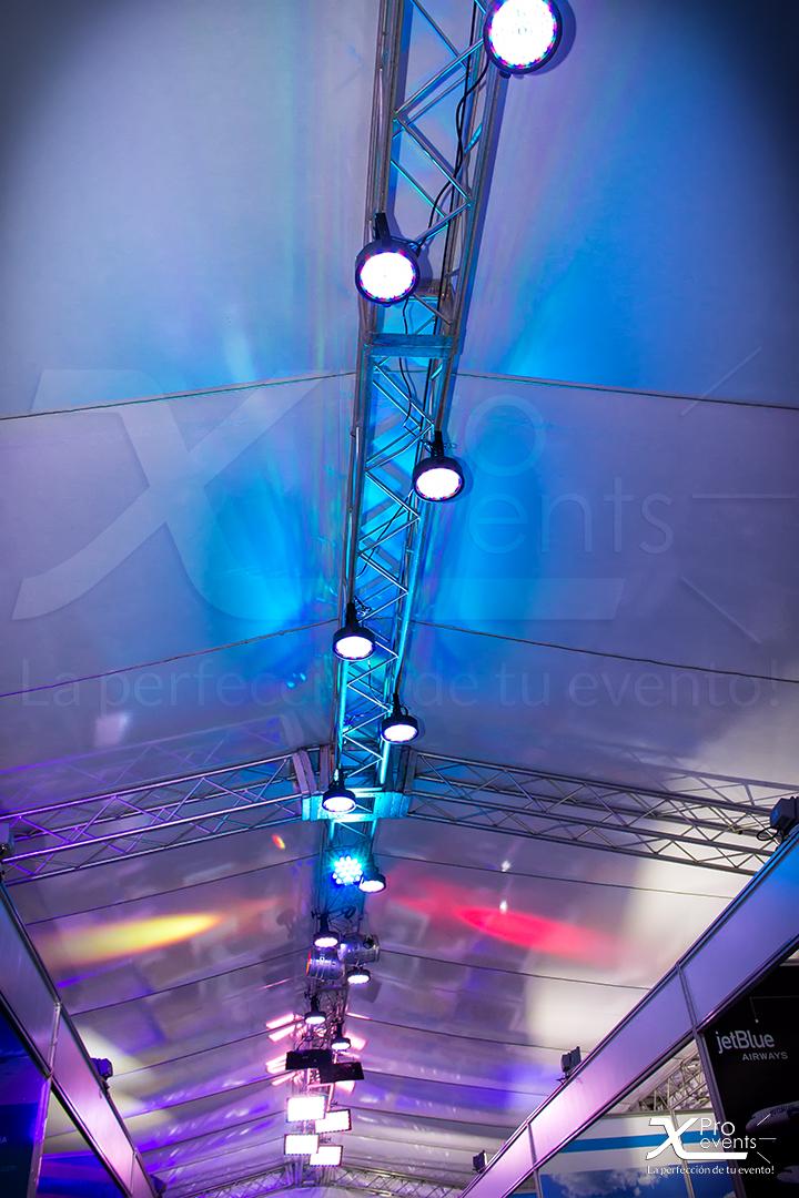www.Xproevents.com - Techo Truss con Iluminacion fria LED