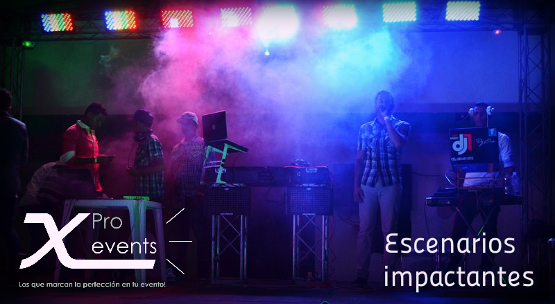 X Pro events  - 809-846-3784 - Tarima - Truss - Luces led - Montajes de impacto.