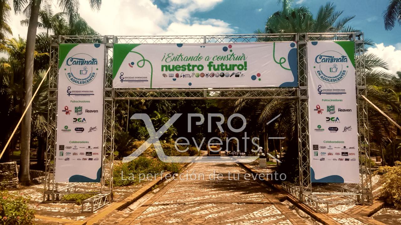 Estructura truss cruza-calle - X Pro Eve